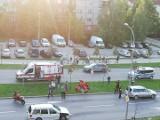 Wypadek motocyklisty na Żeromskiego w Białymstoku (zdjęcia)