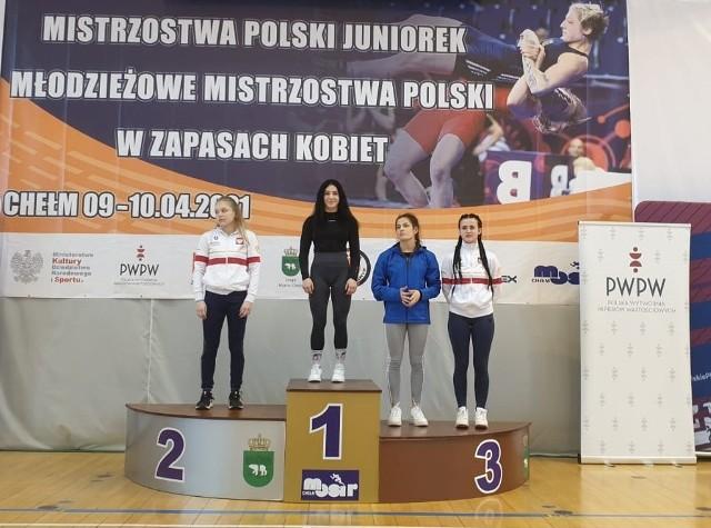Monika Borowska na najwyższym stopniu podium mistrzostw Polski juniorek