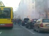 Pożar auta. Samochód stanął w płomieniach na al. 1 Maja