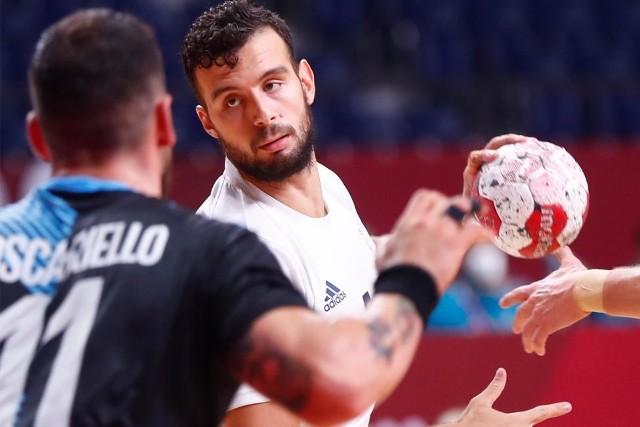 Nedim Remili podczas meczu Francja - Argentyna.