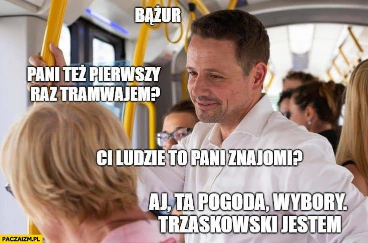 Rafał Trzaskowski bohaterem memów. W pocie czoła zbiera podpisy ...