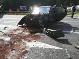 Przechody: Wypadek na DK 65. Zderzyły się dwa samochody, dwie osoby ranne (zdjęcia)