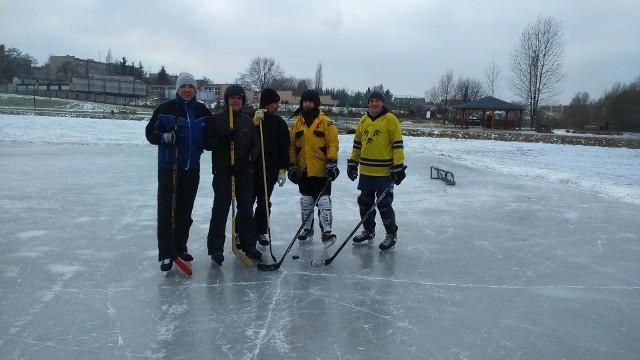 Przerwa w meczu hokeja w Szczecinku
