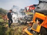 Groźny wypadek na drodze S6 pod Koszalinem. Zderzyły się dwa auta ciężarowe [ZDJĘCIA]
