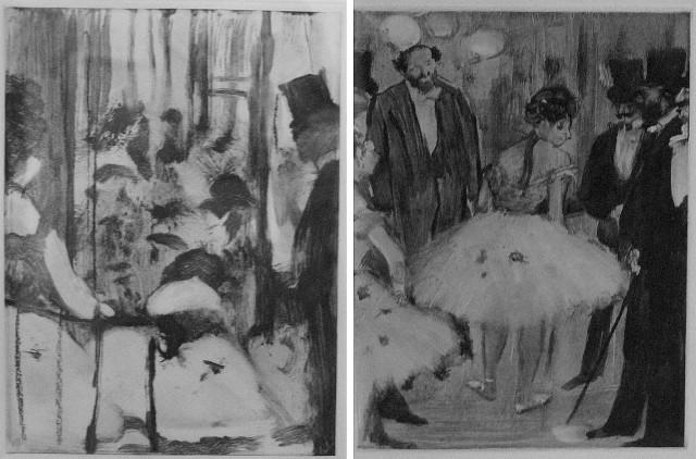 """Dwie z prac Edgara Degas, które będą prezentowane w inowrocławskim muzeum na wystawie """"Edgar Degas - impresjonizm szczera prawda"""""""