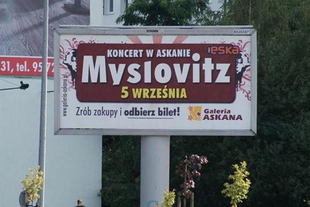 Plakaty i billboardy zapowiadające koncert Myslovitz na dachu Askany wczoraj już zniknęły z ulic Gorzowa.