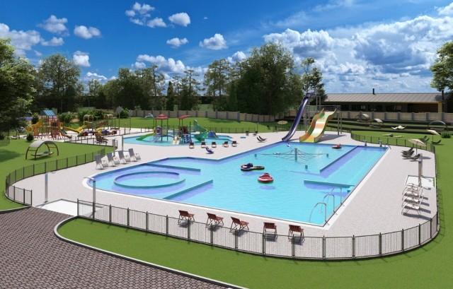 Tak ma wyglądać nowy basen odkryty trampOOLina w Oleśnie.