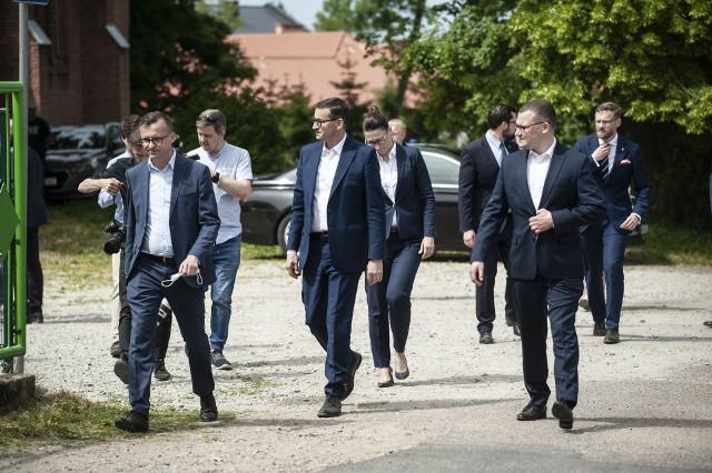 Premier Mateusz Morawiecki w Starych Bielicach