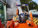 Pożar łodzi zacumowaniej na Odrze. Jedna osoba poszkodowana