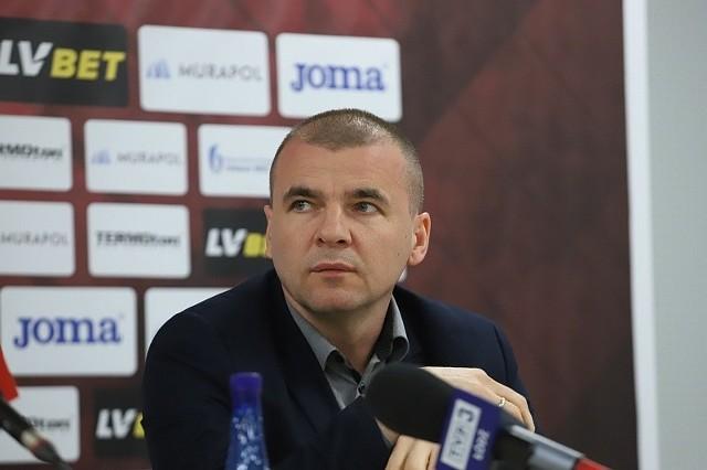 Prezes Widzewa Jakub Kaczorowski