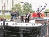Zabytkowa barka Lemara zmieniła miejsce cumowania [zdjęcia]