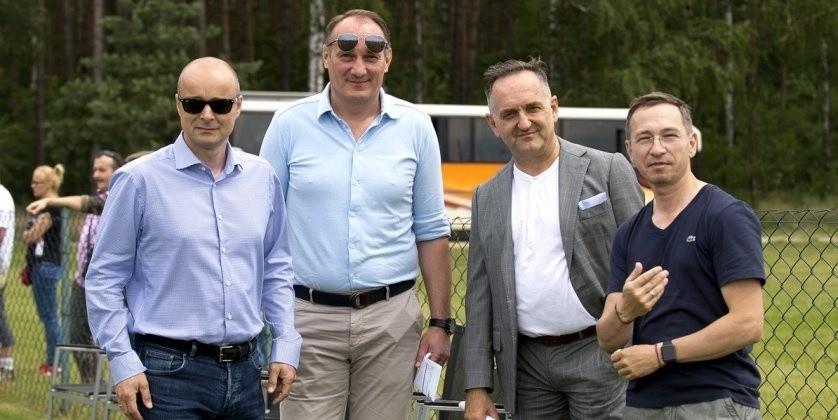Od lewej: Michał Bobowiec, Adam Matysek, Grzegorz Ślak i...