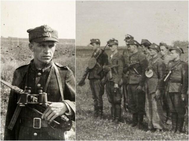 Por. Turowski i jego żołnierze