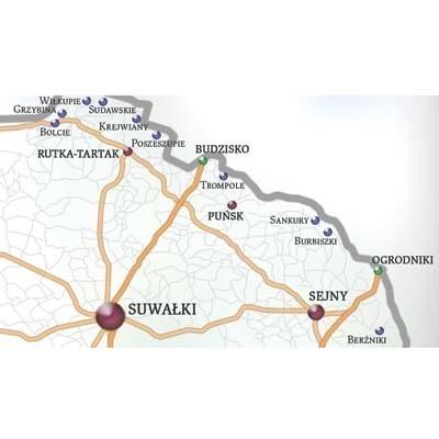 W tych miejscowościach można już przejechać na Litwę. Po obu stronach granicy są wyasfaltowane drogi.