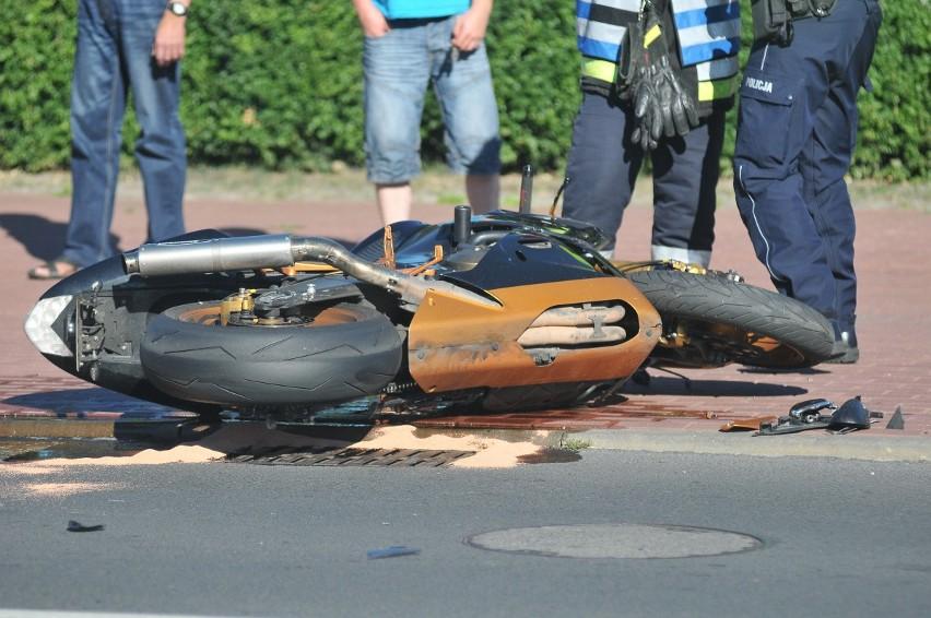Do wypadku motocyklisty doszło na ul. Jana Pawła II w...