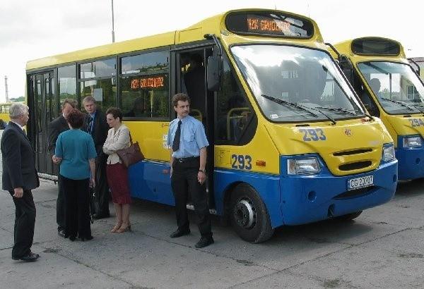 Nową linię A1 obsługiwać będą busy  niedawno kupione przez Miejski Zakład  Komunikacji w Grudziądzu.