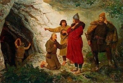 """Wojciech Gerson, """"Łokietek pod Ojcowem"""", 1890 r. Fot. archiwum"""