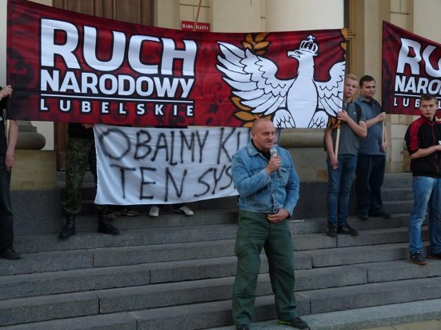 Manifestacja Ruchu Narodowego.