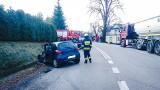 Skrzydlna. Dwie osoby ucierpiały w zderzeniu ciężarówki z osobówką