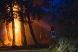"""Do rana trwało dogaszanie pożaru na terenie """"rolniczaka"""" w Słupsku. Nikomu nic się nie stało"""