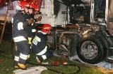 Pożar na DK8: Tir w ogniu.