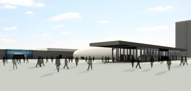 Kolporter Expo przenosi się do Sosnowca, gdzie chce rozbudowywać swoje obiekty, tak jak na przedstawionej wizualizacji