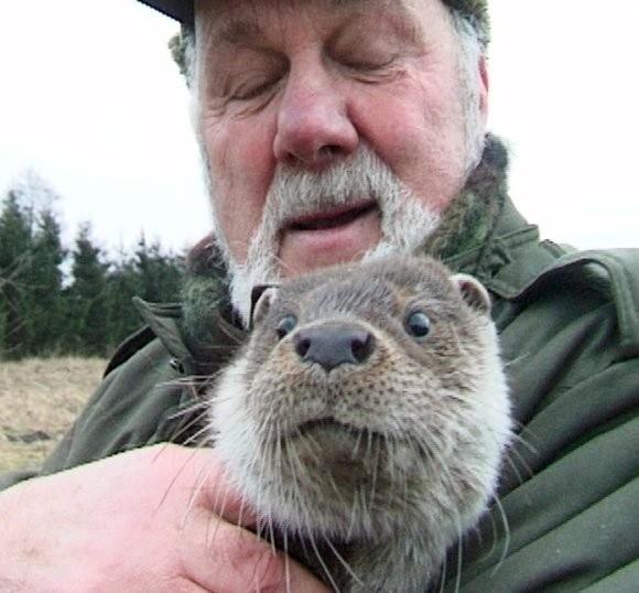 To zdjęcie zrobiliśmy w styczniu 2003 roku podczas wizyty u Profesora w jego domostwie. Tulił wówczas do siebie swojego ulubionego wychowanka – wydrę o imieniu Wituś.