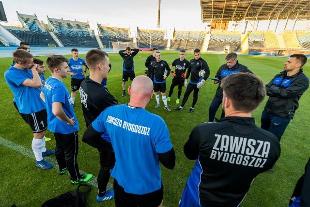 Piłkarze Zawiszy Bydgoszcz przygotowują się do sezonu 2020/21