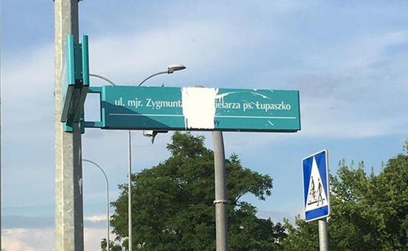 Kolejny atak na upamiętnienie w postaci nazwy ulicy majora...