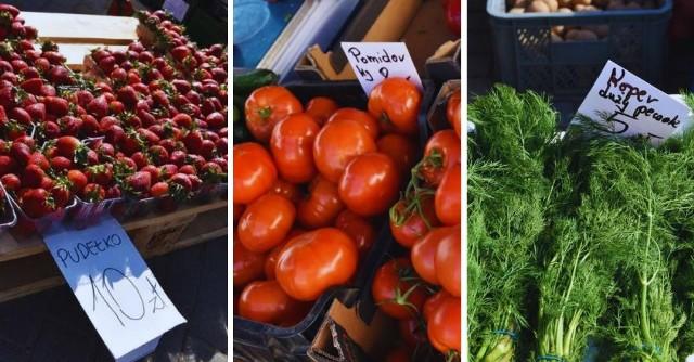 Ceny warzyw i owoców na targowiskach na Pomorzu. Kliknij w zdjęcia i porównaj ceny na targowiskach w różnych miastach >>>Ile kosztują pomidory czy truskawki w tym roku? Ile zapłacimy za szczypior czy sałatę? Sprawdźcie cennik!