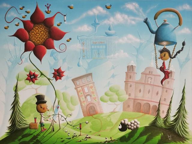 Obraz promujący Art Naif Festiwal - Polska! namalował  Paweł Widera