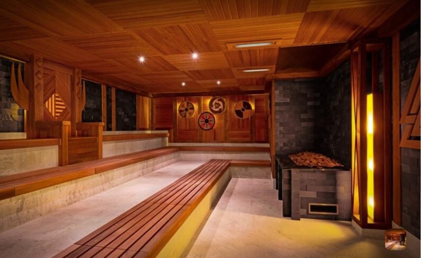 Sauna Valhalla. Klasyczna, drewniana sauna z wystrojem,...