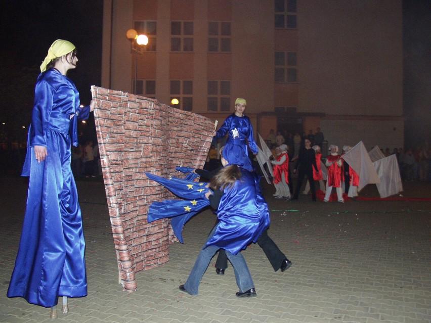 Ostrołęka świętowała wejście Polski do UE, 30.04-1.05.2020