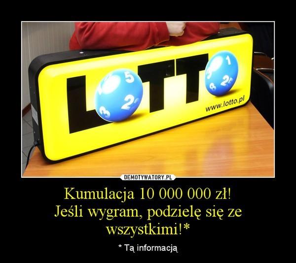 Kumulacja Lotto rozbita. Mamy milionera wszechczasów!