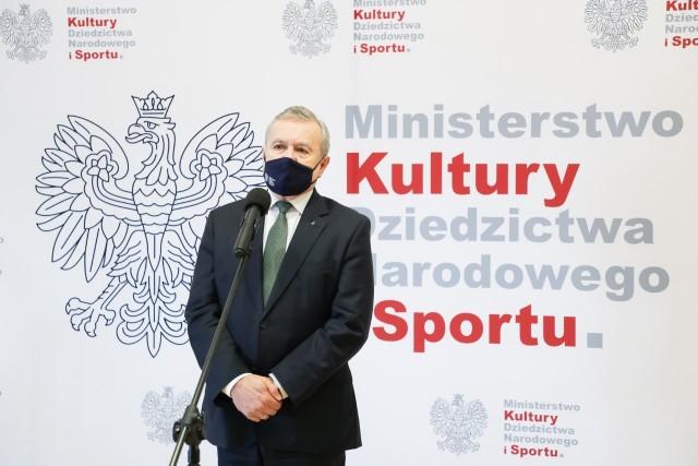 """Wicepremier Piotr Gliński: Rozstrzygnęliśmy drugą turę programu """"Sportowa Polska"""". Tym razem dofinansowanie na łączną kwotę niemal 83 mln zł otrzymały 73 inwestycje."""