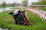 Poważny wypadek na obwodnicy Murowanej Gośliny. Zderzyły się dwa samochody osobowe
