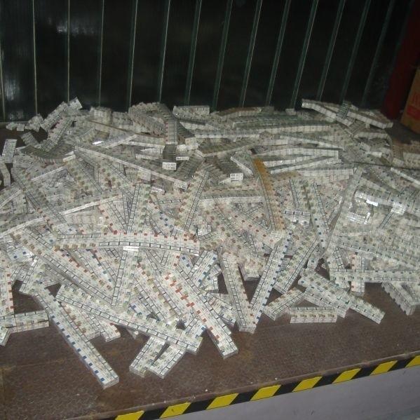 Zarekwirowane papierosy