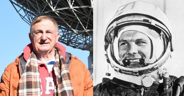 Kazimierz Błaszczak (z lewej), Jurij Gagarin (z prawej)
