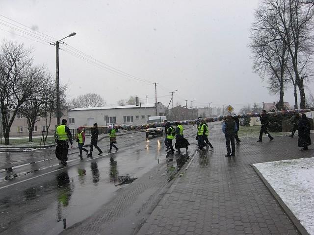 Pokonali pieszo kilkanaście kilometrów z Markowic do Inowrocławia