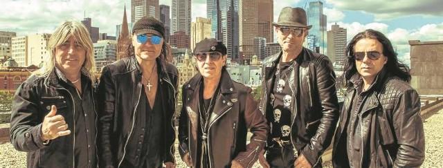 Legendarna grupa  Scorpions, pierwszy  z prawej -  basista Paweł Mąciwoda-Jastrzębski