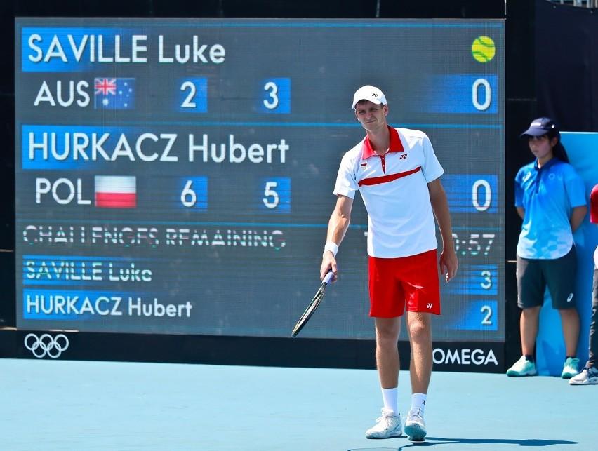 Hubert Hurkacz wygrał w pierwszej rundzie olimpijskiego...