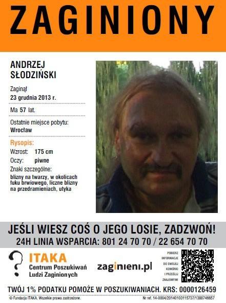 Zaginiony Andrzej Słodziński