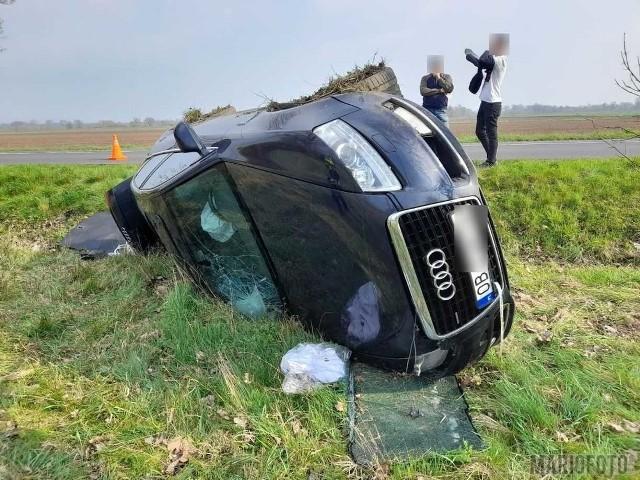 Wypadek w okolicy Lewina Brzeskiego.