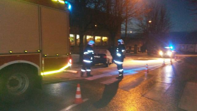 Na czas działań ruch odbywał się jednym pasem drogi. Na miejscu obecny był też patrol Straży Granicznej oraz policja.