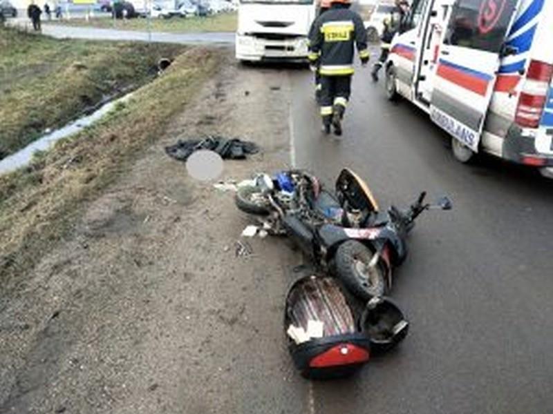 Śmiertelny wypadek motocyklisty w Augustowie