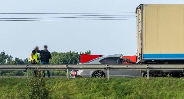 Wypadek na autostradzie A4 12.09.2021