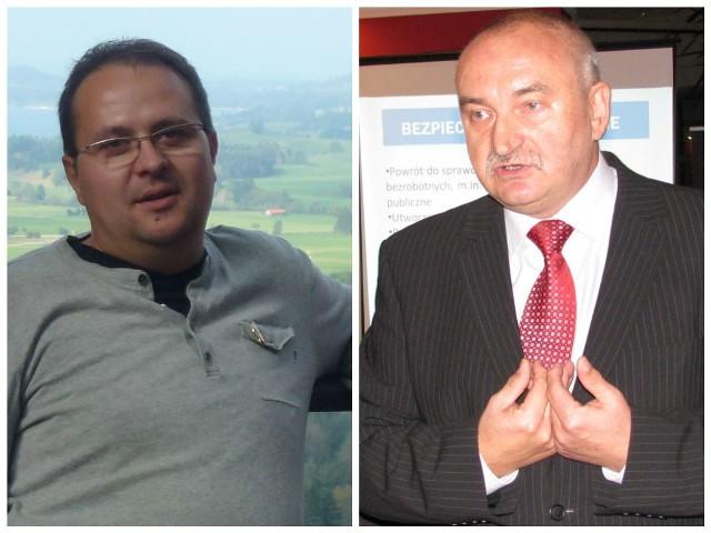Sławomir Jabłoński (po lewej) ma szansę na debiut w roli radnego Zbigniew Ceglarski: Zbigniew Ceglarski przez lata pracował w samorządzie