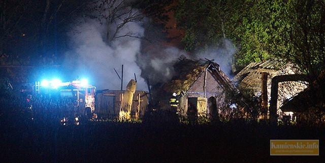 Na terenie skansenu w Wolinie spłonęły dwie chaty