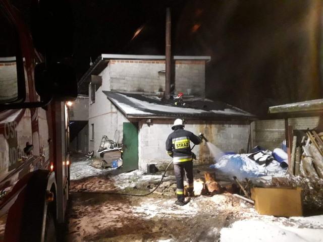 Do pożaru kotłowni doszło w nocy z niedzieli na poniedziałek w miejscowości Majdów (gmina Szydłowiec).