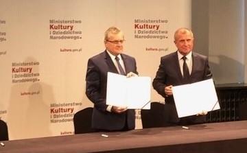 Podpisanie aneksu do umowy o współprowadzeniu Aukso Orkiestry Kameralnej Miasta Tychy